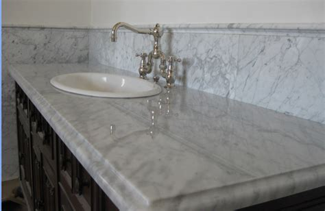 marble countertop for bathroom white carrera marble countertop globe bath kitchen
