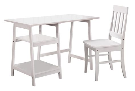 white writing desk and chair homelegance daily writing desk and chair white 4694wt 15