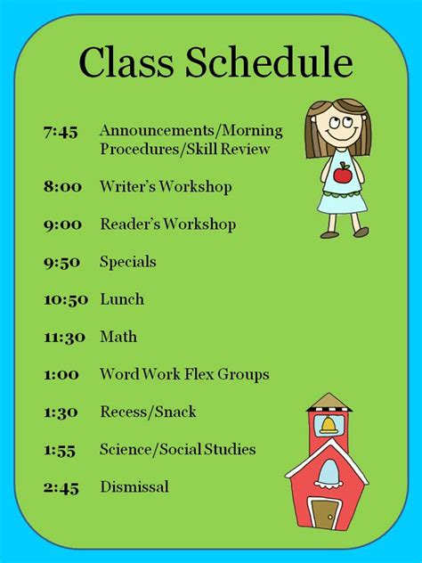 Search Results For Daily Schedule Template Calendar 2015 Elementary School Class Schedule Template