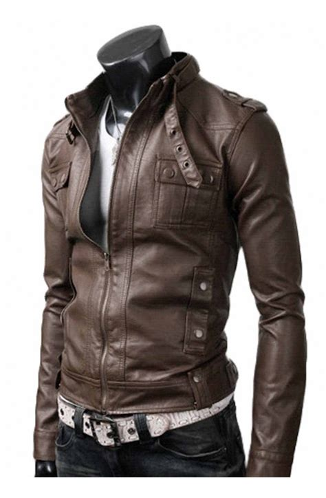 light brown leather jacket mens strap pocket mens jacket light brown leather jacket