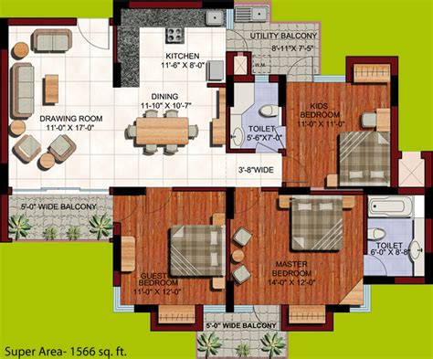 the oc house floor plan 1566 sq ft 3 bhk 2t apartment for sale in aba builders