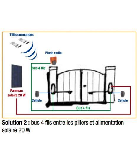 portail electrique 265 panneau solaire 20w mju02x daitem pour alimentation de