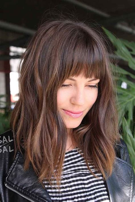 lob  bangs ideas  pinterest short hair