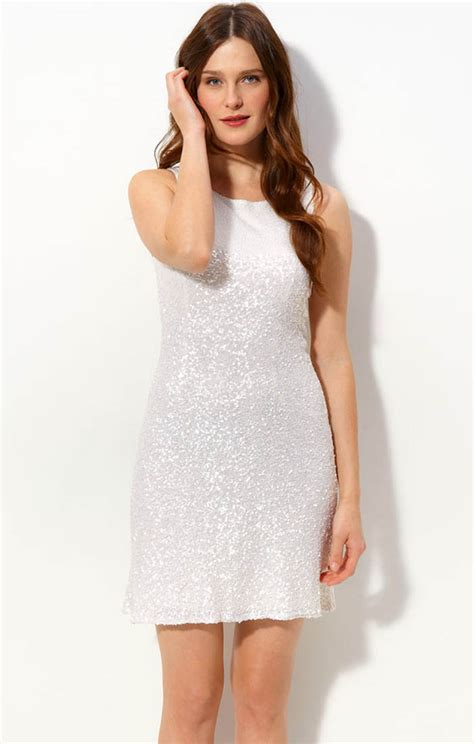 white cocktail dresses white sequin cocktail dress pjbb gown