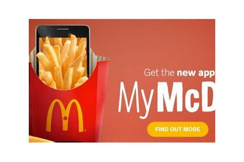 mcdonalds coupons canada app