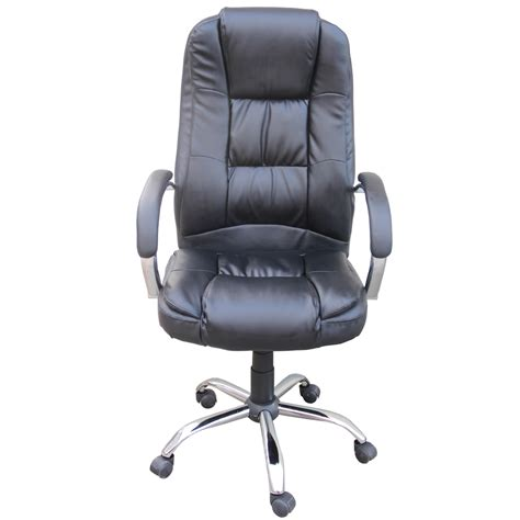 Computer Desk Chairs by Homegear Pu Leather Executive Wheeled Computer Desk Chair Office Chair Ebay