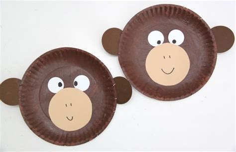monkey craft for curious george inspired paper plate monkey craft smashed