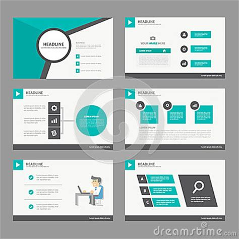 presentation design templates black green presentation template annual report brochure