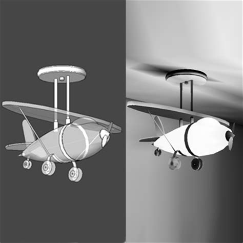 Airplane Light Fixture Airplane Light Fixture 3d Model Formfonts 3d Models Textures