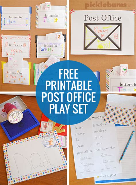 Can I Mail At The Post Office by Post Office Play Free Printable Play Set Picklebums