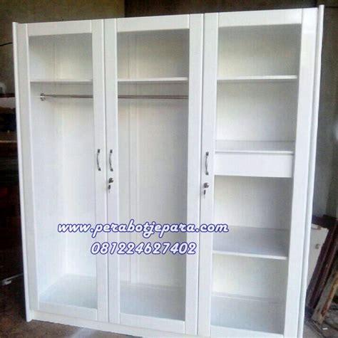 Lemari Kaca Satu Pintu lemari pakaian 3 pintu kaca transparan perabot jepara
