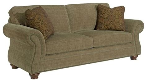Broyhill Upholstery Fabric by Broyhill Olive Sofa 011805 3q1 Traditional