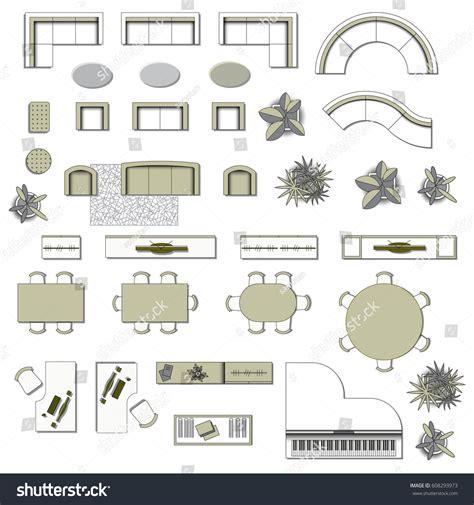 interior design elements vector set top view interior icon design stock vector 608293973