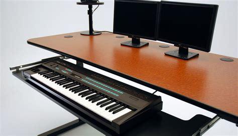 keyboard mount for desk ergo music height adjustable music production desk