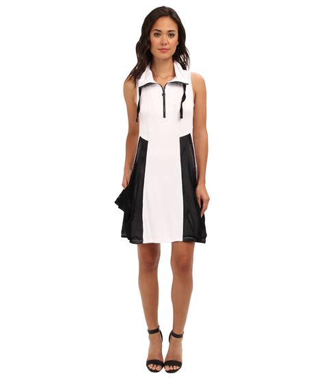 Dress Pull N Ks kensie drapey terry dress ks6k9953 white combo