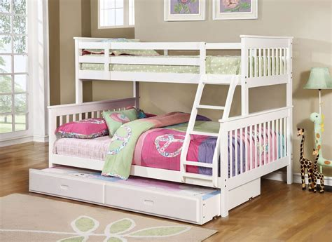 white bunk bed with trundle coaster chapman white bunk bed with trundle
