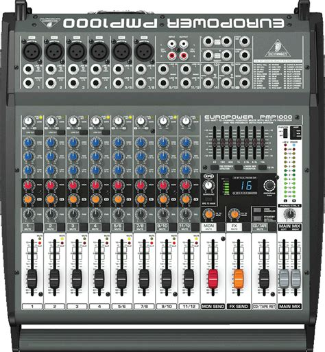Mixer Behringer 12 Channel Bekas behringer europower pmp1000 500 watt 12 channel powered mixer with multi fx processor and fbq