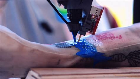 tattoo printer video video franceses crean m 225 quina de tatuajes en base a