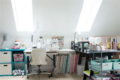 cute clever sewing room organization ideas homegoods giveaway  polka dot chair