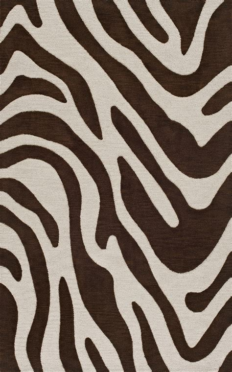 Zebra Area Rug 8x10 Dalyn Animal Print Brown Zebra Swirls Wool Transitional Tr15 Area Rug Ebay
