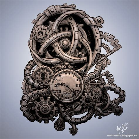 steampunk tattoo by mat andre by matandre on deviantart