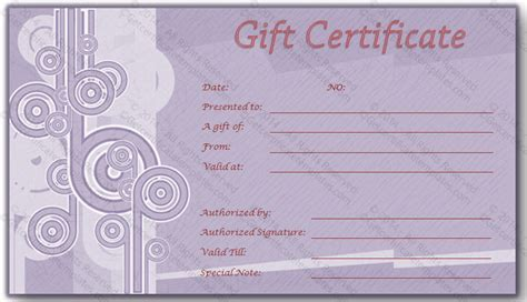 Credit Card Voucher Template Credit Card Gift Certificate Template