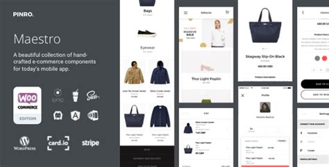 Maestro Ionic Full Android Ios E Commerce App Integrated With Woocommerce By Admin Pinro Ionic Ecommerce Template Free