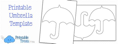 printable umbrella template for preschool umbrella printable treats