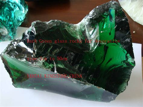 glass pit stones transparent green glass boulders cheap colored landscaping