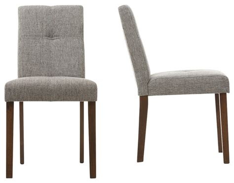 Elsa Linen Dining Chairs, Set of 2   Contemporary   Dining