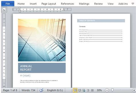 Annual Report Template Word Beautiful Streamlined And Cohesive Design Templates Data Beautiful Word Templates