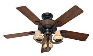 lodge ceiling fans 52 quot ceiling fan bronze w light 5