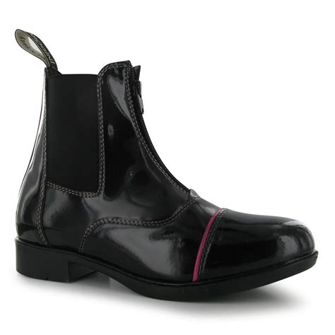 horseback shoes brogini womens patent jodhpur boots pull on
