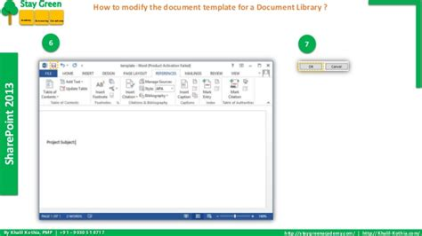 How To Modify The Document Template For A Document Library In Sharepo Change Template Sharepoint