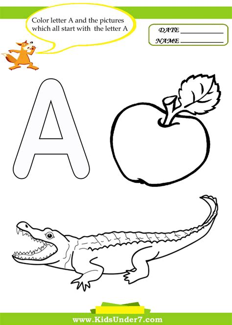 free printable preschool worksheets letter a kids under 7 letter a worksheets and coloring pages