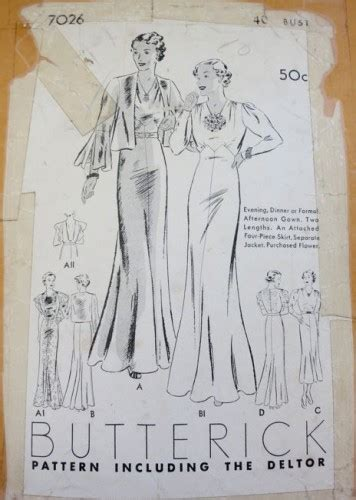 dress pattern exle my 1930s patterns the non excella patterns the dreamstress
