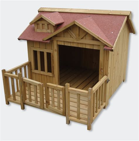 dog house with kennel wiltec xl outdoor dog kennel dog house with veranda massive wood 50030