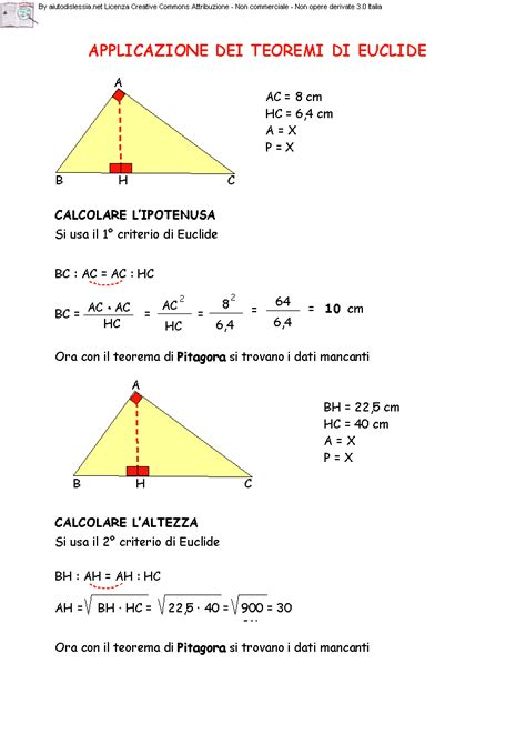 teorema testo il teorema di euclide le similitudini 2 170 media