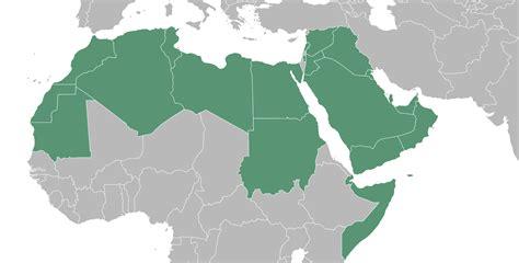 map of the arab arab world map roundtripticket me