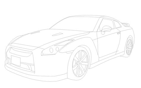 nissan skyline drawing outline cool cars wallpaper gtr engine diagram and wiring diagram