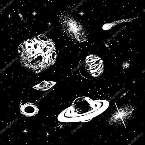 imagenes del universo en blanco y negro vector illustration of universe stock vector