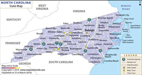 nc state map cities in carolina pictures to pin on pinsdaddy
