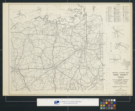 cass county texas map general highway map cass county texas the portal to texas history