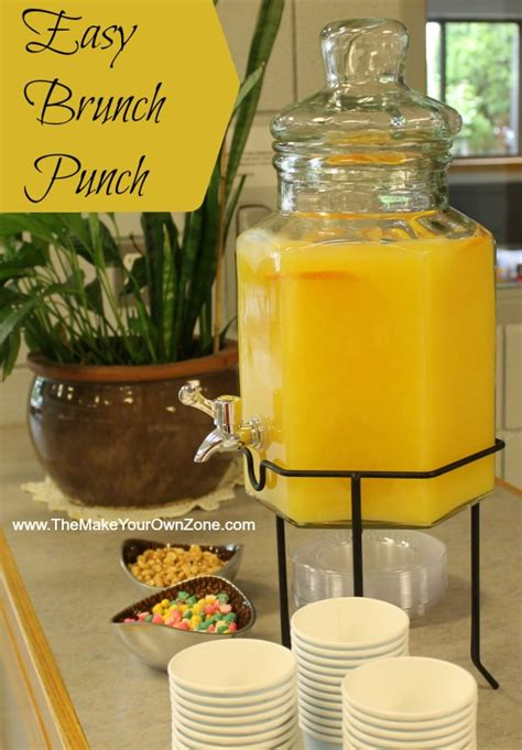 easy recipes for bridal shower easy punch recipe for a morning brunch shower