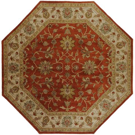 octagonal rug artistic weavers franklin terracotta 8 ft x 8 ft octagon area rug val 6002 the home depot