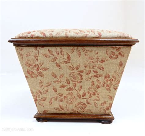 Antique Ottoman Square Ottoman With Mulberry Fabric Antiques Atlas