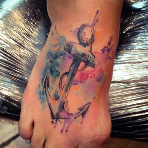 watercolor anchor tattoo watercolor anchor designs ideas and meaning