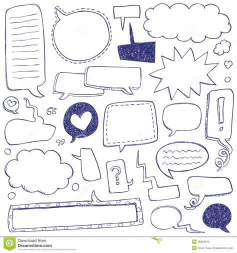 doodle speech free vector speech doodles stock photos image 16224613