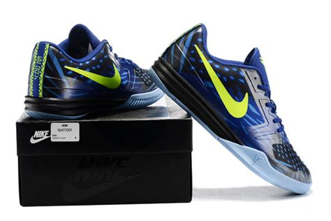 blue and black basketball shoes nike kb mentality blue black fluorscent basketball shoes
