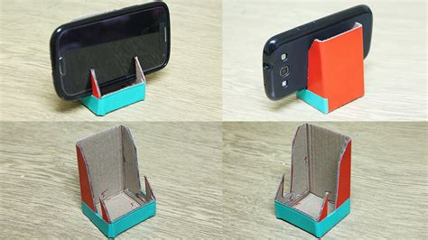 How To Make A Paper Phone Stand - how to make a phone stand diy phone stand